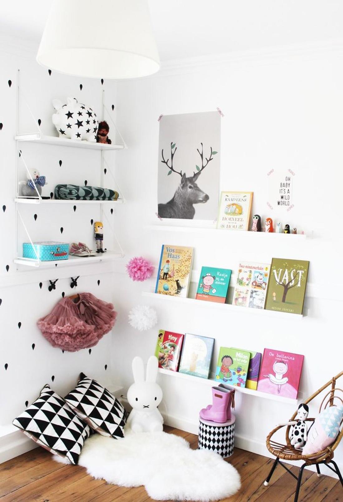 עיצוב חדר ילדים בשחורלבן2