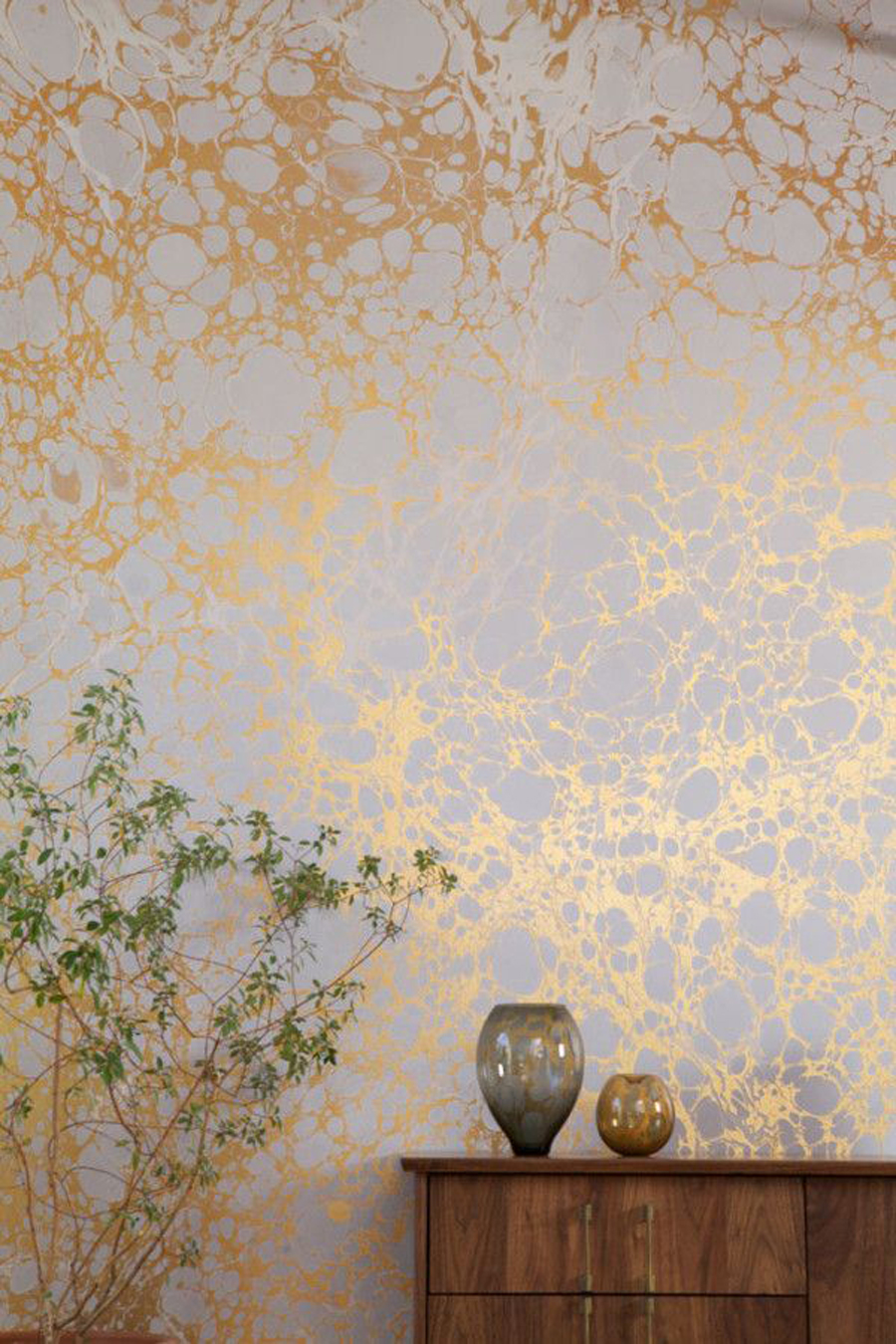 Calico Wallpaper creates space-inspired metallic wallpapers
