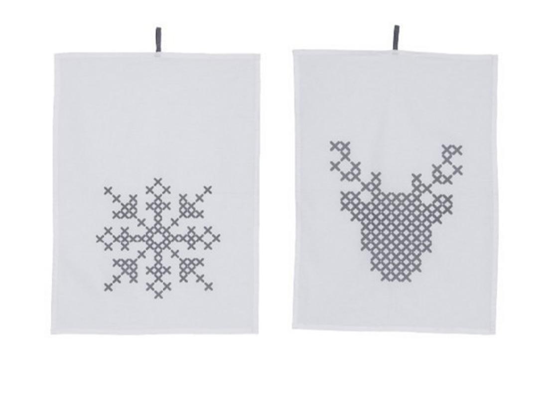 מגבת מטבח בהדפס חורפי - פריטים מעוצבים לחורף מפנק studio in2