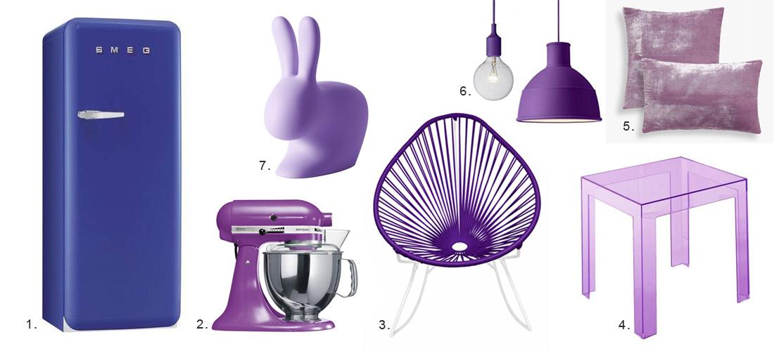 pantone color of the year 2018, ultra violet, גוון השנה של פנטון 2018, סגול, פריטים סגולים לבית, קיטצ'נאייד, זארה הום