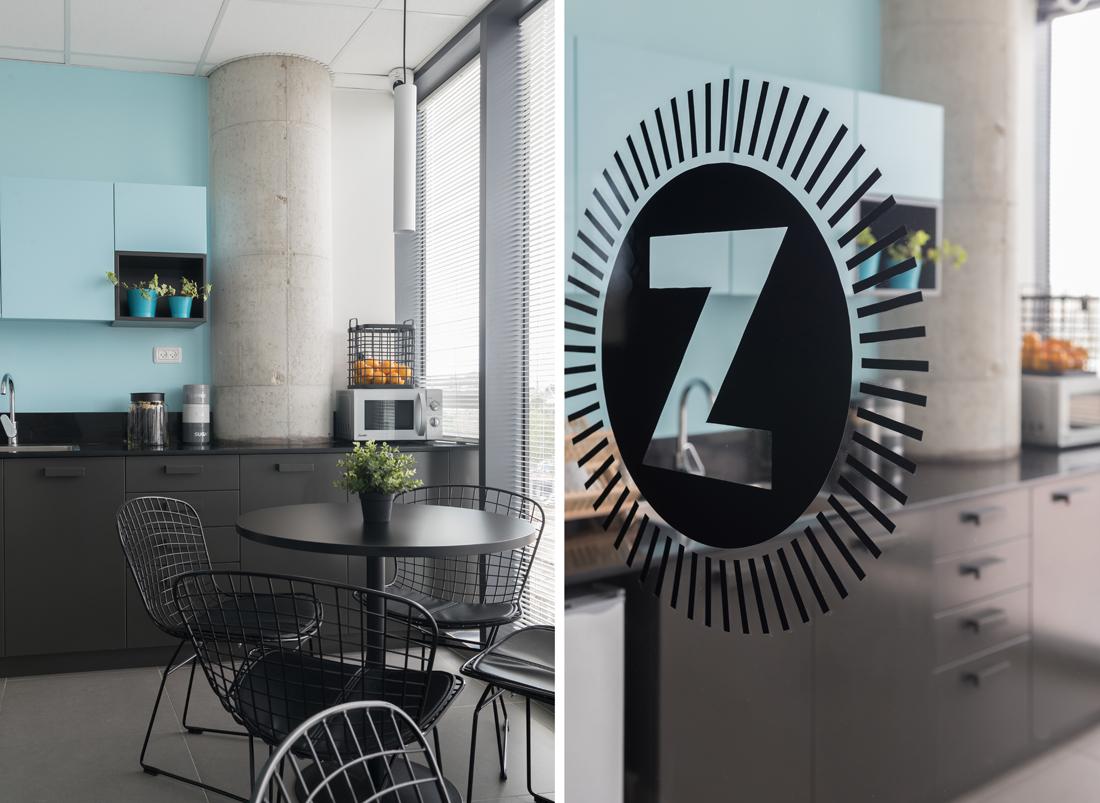 משרדי זוזוברה, עיצוב משרדים, מטבחון משרדי