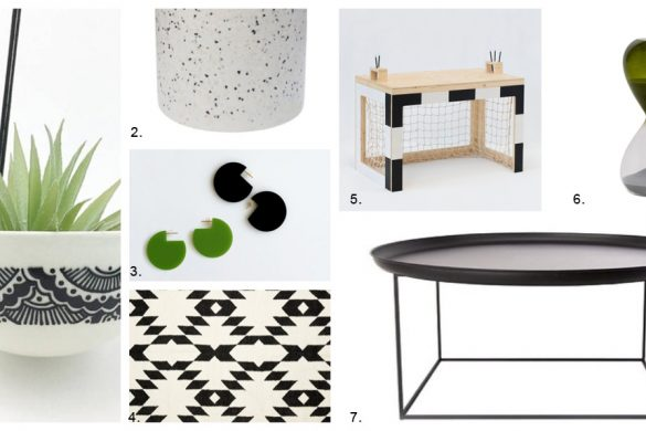 שבעה פריטים בהשראת המונדיאל, פריטים מעוצבים, עיצוב שחור לבן, שחור לבן ירוק, studio in2, in2 design